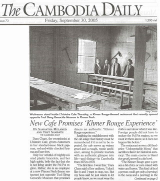 The Cambodia Daily historisches Khmer Rouge Cafe